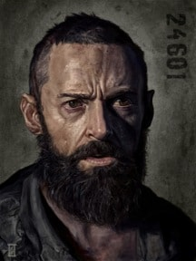 Portrain of Jean Valjean by Robert Schilling