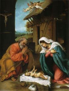Nativity of Christ, Lorenzo Lotto, 1523